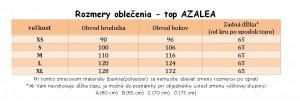 veľkostná tabuľka AZALEA